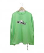 ADER error(アーダーエラー)の古着「ロングスリーブTシャツ」|黄緑