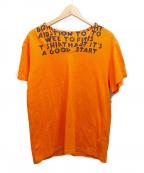 MARTIN MARGIELA(マルタン・マルジェラ)の古着「エイズTシャツ」|オレンジ