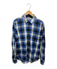 FACTOTUM (ファクトタム) ネルシャツ ブルー サイズ:46