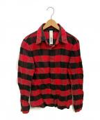 ATTACHMENT(アタッチメント)の古着「ネルシャツ」 レッド×ブラック
