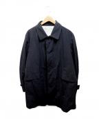 MINOTAUR(ミノトール)の古着「ナイロンステンカラーコート」|ブラック