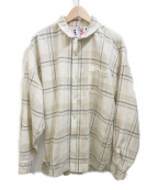 son of the cheese((サノバチーズ))の古着「Long flannel shirts」|ベージュ