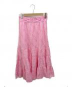 ne quittez pas()の古着「Dobby Check Tiered Skirt」|ピンク
