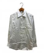 INDIVIDUALIZED SHIRTS(インディビジュアライズドシャツ)の古着「ストライプシャツ」|ホワイト×グリーン