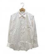 INDIVIDUALIZED SHIRTS(インディビジュアライズドシャツ)の古着「ストライプシャツ」|ホワイト×オレンジ