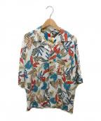 ms braque(エムズ ブラック)の古着「Short Sleeve Raglan Aloha Shir」 ホワイト