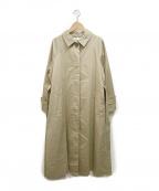 EMMEL REFINES(エメル リファインズ)の古着「SMFステンカラーコートコート」|ベージュ