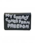 COMME des GARCONS()の古着「Message財布」 ブラック