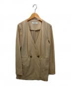 INED(イネド)の古着「ダブルブレストジャケット」 ベージュ