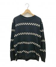LEVI'S (リーバイス) チェッカーラインL/STシャツ ネイビー サイズ:M