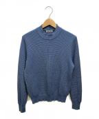 GRAN SASSO(グランサッソ)の古着「ワッフルニット」|ブルー