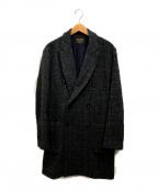 MR.OLIVE(ミスターオリーブ)の古着「DARK CHECK /DOUBLE CHESTER COA」|ネイビー