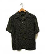 HAVERSACK(ハバーサック)の古着「リネンステッチオープンカラーシャツ」 ブラック