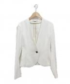 BEIGE(ベイジ)の古着「luizaノーカラージャケット」 ホワイト