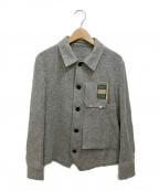 ASEEDONCLOUD(アシードンクラウド)の古着「ツイードジャケット」 グレー