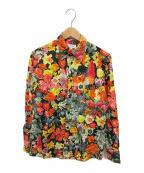 PAUL SMITH()の古着「フラワープリントシャツ」 ブラック