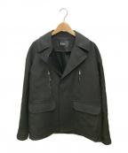 THE RERACS(ザ リラクス)の古着「ウールジップジャケット」|ブラック