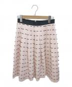 M'S GRACY(エムズグレイシー)の古着「リボンフレアスカート」 ピンク