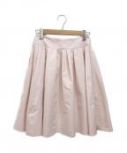 M'S GRACY(エムズグレイシー)の古着「タックフレアスカート」 ピンク