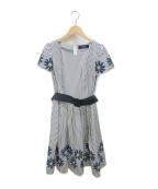 MS GRACY(エムズグレイシー)の古着「ストライプワンピース」|ホワイト×ブルー