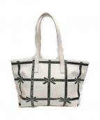 MS GRACY(エムズグレイシー)の古着「Print Tote Bag」|ホワイト×ブラック