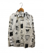 FUCKING AWESOME(ファッキングオーサム)の古着「CUT OUTS DRESS SHIRT」|ホワイト×ブラック