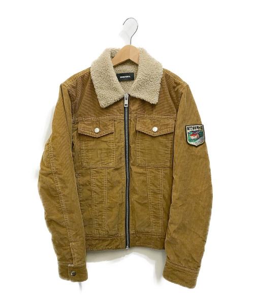 DIESEL(ディーゼル)DIESEL (ディーゼル) コーデュロイジャケット ベージュ サイズ:Mの古着・服飾アイテム