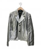 tricot COMME des GARCONS()の古着「メタリックテーラードジャケット」|シルバー