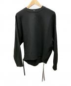 HYKE(ハイク)の古着「サイドジップスウェット」 ブラック