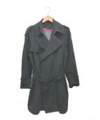sage de cret()の古着「ライナー付トレンチコート」|ブラック
