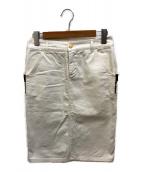 ()の古着「デニムスカート」 ホワイト