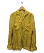 FILL THE BILL(フィルザビル)の古着「PAJAMA-SHIRT」|イエロー
