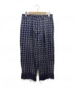 wonderland(ワンダーランド)の古着「Slacks pants」|グリーン