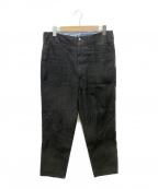 WESTOVERALLS(ウエストオーバーオールズ)の古着「DBM ARROW PANTS」 ブラック