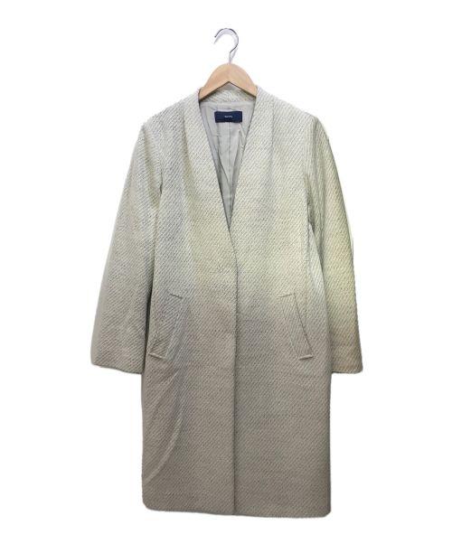 SHIPS(シップス)SHIPS (シップス) ノーカラーコート グレー サイズ:40の古着・服飾アイテム