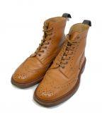 Tricker's()の古着「ウィングチップブーツ」|ベージュ