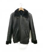 ZARA(ザラ)の古着「フェイクムートンライダースジャケット」|ブラック