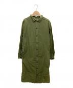 Yarmo(ヤーモ)の古着「2wayコットンバックオープンスモックドレス」 オリーブ