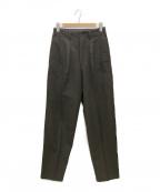 Y's for men(ワイズフォーメン)の古着「2タックウールパンツ」|ブラウン