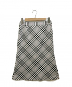 BURBERRY LONDON(バーバリー ロンドン)の古着「ノバチェック柄スカート」 グレー×ブラック
