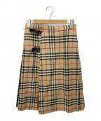 Burberry's(バーバリーズ)の古着「ノヴァチェックウールスカート」 ベージュ