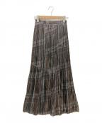 FRAY ID(フレイアイディー)の古着「グロッシープリーツプリントスカート」 CHECK