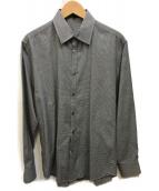 ()の古着「千鳥格子シャツ」|ホワイト×ブラック