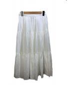 ()の古着「ティアードスカート」|ホワイト
