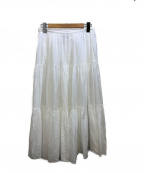 agnes b(アニエスベー)の古着「ティアードスカート」 ホワイト