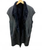 GUSHLOW&COLE(ガシュロウ&コール)の古着「リバーシブルムートンジレ」|ネイビー