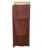 ISSEY MIYAKE(イッセイミヤケ)の古着「プリーツスカート」|レッド×ブラック