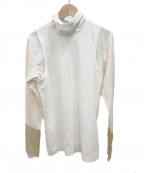 TOGA PULLA(トーガプルラ)の古着「High twist cotton high neck」 ホワイト
