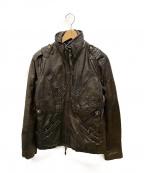 AVIREX(アヴィレックス)の古着「ラムレザーアーミージャケット」|ブラウン