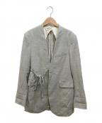 FUMIKA UCHIDA(フミカウチダ)の古着「TIE SUITS JK」|グレー